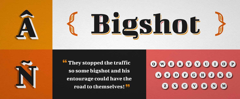 Schriftentwicklung Bigshot One Font bei Google Fonts, Typedesign