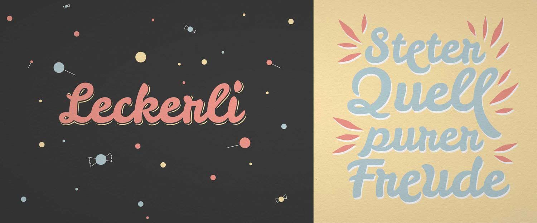 Schriftentwicklung Leckerli One bei Google Fonts, Typedesign