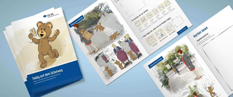 Unfallkasse Brandenburg Broschüre Arbeitsheft für Kinder, Schüler und Lehrer