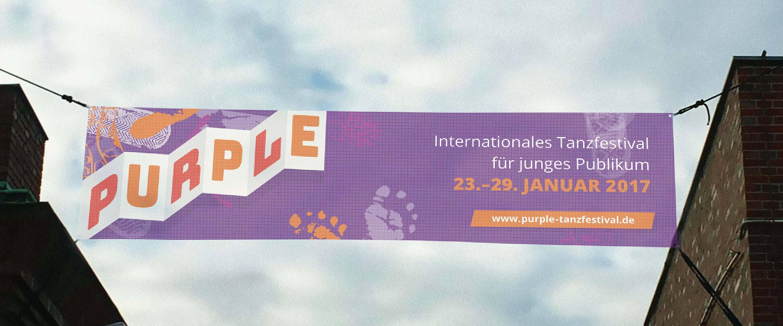 minkadu Schwerpunkt Freizeit Puple Tanzfestival Banner