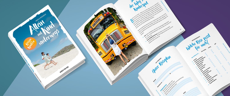 minkadu gestaltet Buchcover und bietet Buchgestaltung, Layout, Satz und Typografie Beispiel World-for-kids