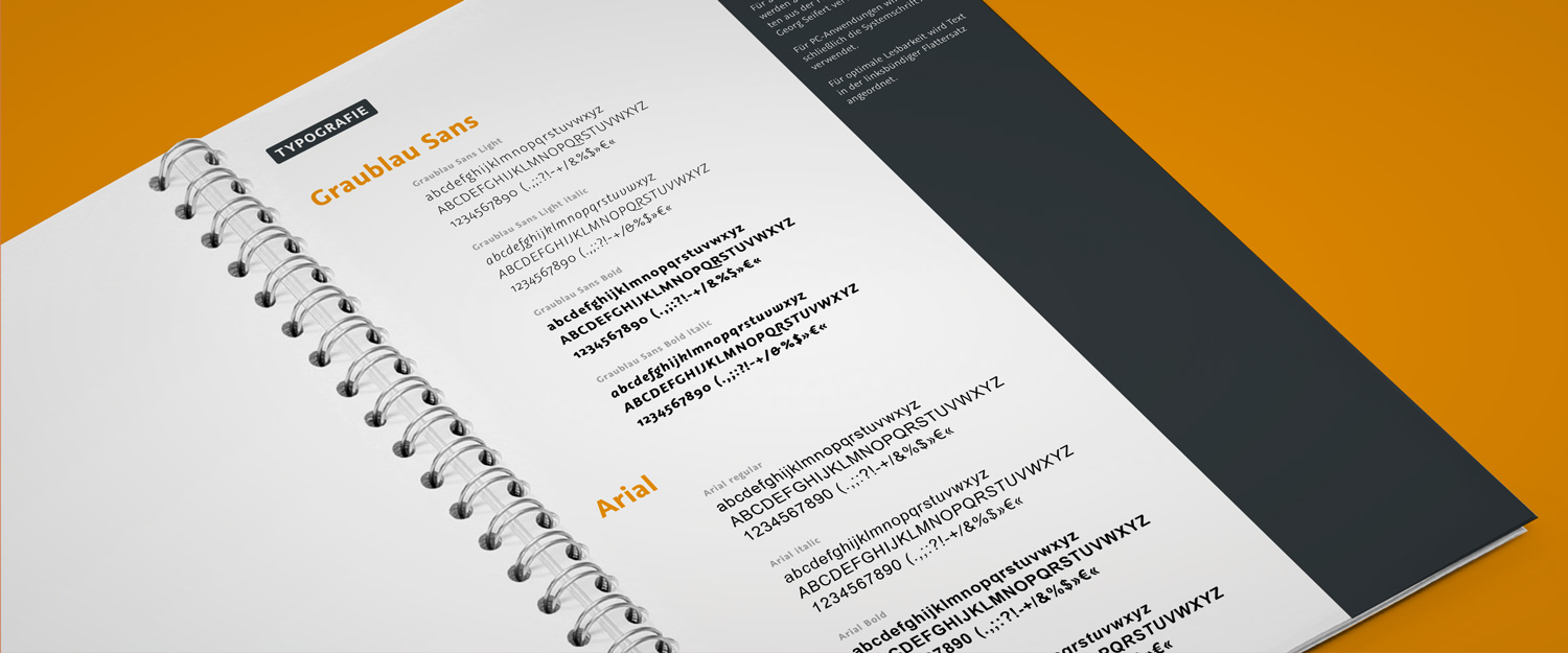 minkadu bietet Corporate Design Manuals, Styleguides und Typografie