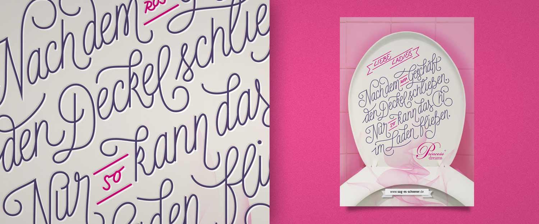 Sag es schöner Karte Motiv für Princess Dreams Brautmoden custom Lettering Illustration
