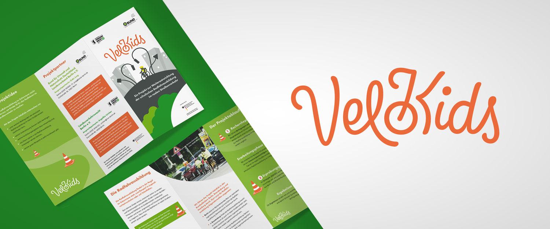 BUND e.V. Projekt Velokids Logo und Flyer Gestaltung von minkadu Berlin