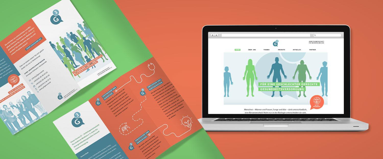 G hoch 3 Projekt Logo, Website und Flyer Gestaltung von minkadu Berlin